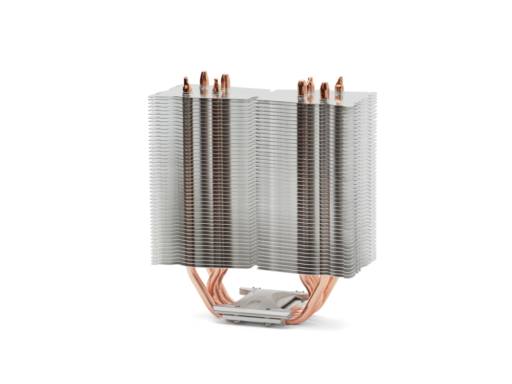 CPU cooler for a processor of a tower type isolated on a white background