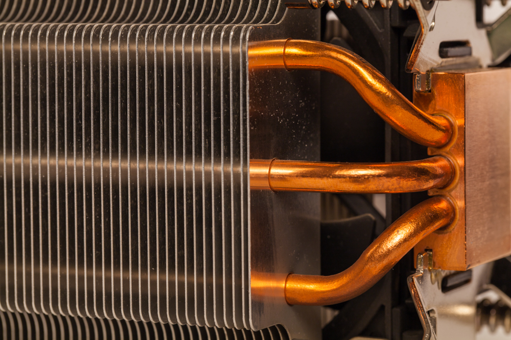 Details of an cooling elements, fan. Processor cooler.